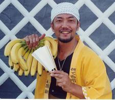 バナナの叩き売り、がまの油売り
